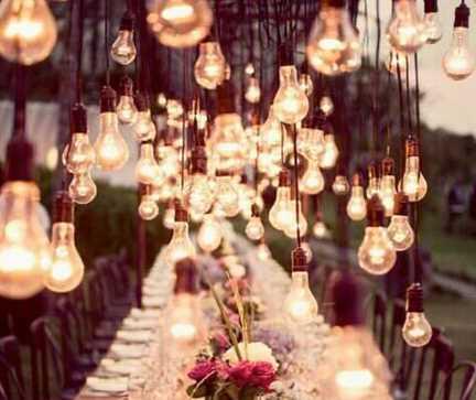 Glühlampen als Hängelampen