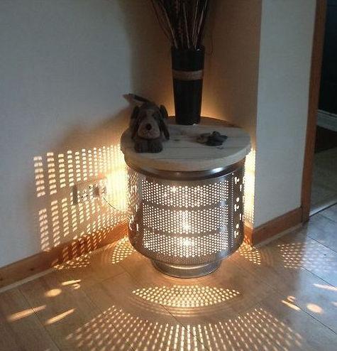 waschmaschinentrommel zu lampe. Black Bedroom Furniture Sets. Home Design Ideas