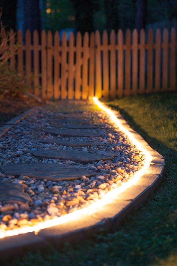 Lichtschlauch Als Gestaltungsmittel Für Den Garten