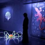 Schwarzlicht regt fluoreszierende Stoffe zum Leuchten an. Ganze Gemälde, die mit solchen Farben hergestellt werden, gibt es.