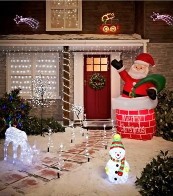 Weihnachtsbeleuchtung Für Balkon Aussen.Schön Weihnachtsbeleuchtung Für Draußen