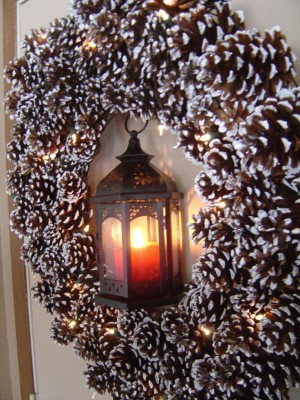 Weihnachtsbeleuchtung Kranz.Schön Weihnachtsbeleuchtung Für Draußen