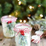 Weihnachtslicht mit Tannenzweig