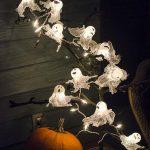 Halloween Lchterkette Geister aus Zellstoff