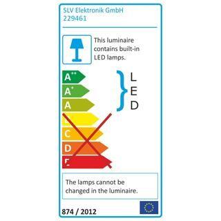 SLV GALEN LED Profil mit 15x1W LED, weiss