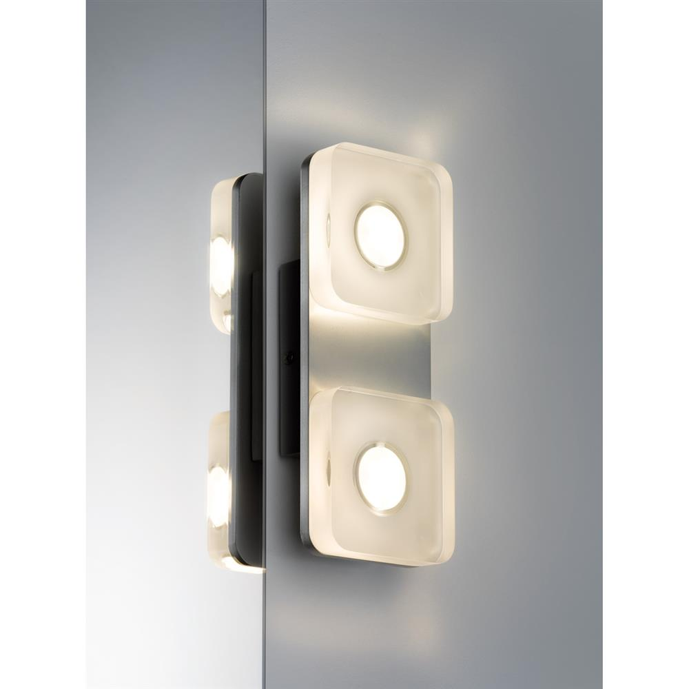 Paulmann wallceiling eckig tucana ip44 led 1x9w alu elo for Lampen kontor