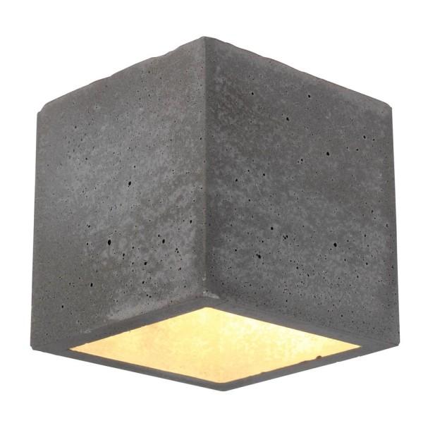 Spot-Light Wandleuchte BLOCK G9 Beton/ Metall/ Glas Be