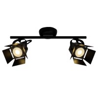 Brilliant Movie LED Spotrohr 2flg schwarz matt