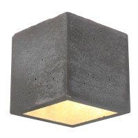 Spot-Light Wandleuchte BLOCK G9 Beton/ Metall/ Glas Be